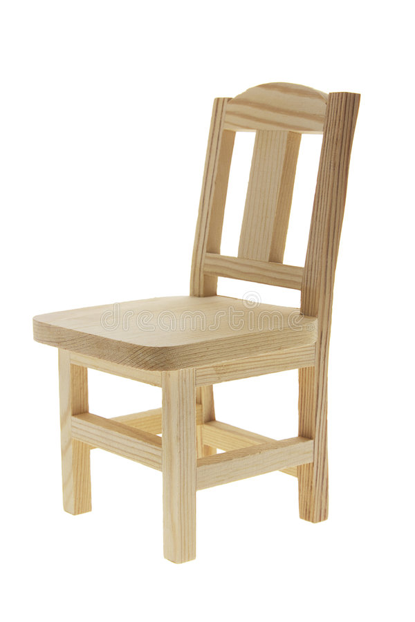 Miniature Wooden Chair royalty free stock photos