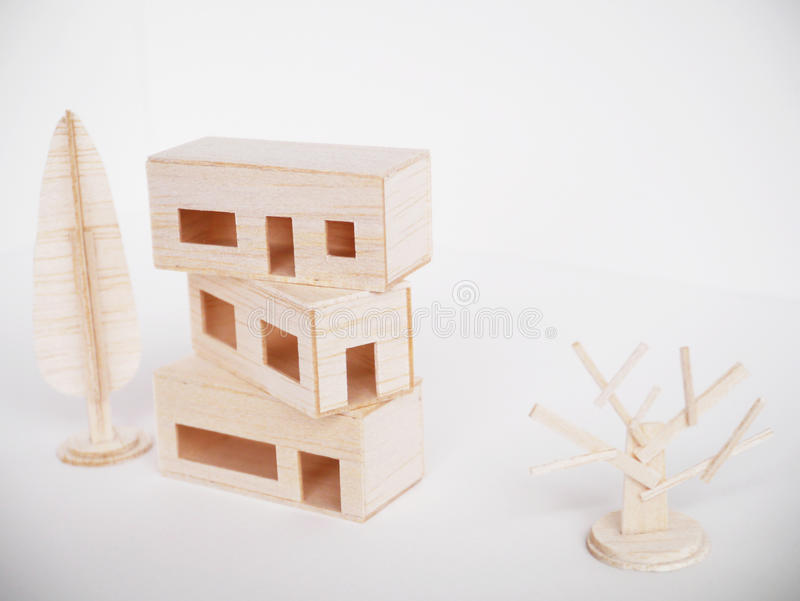 Miniature wooden model cutting artwork craft handmade minimal stock images