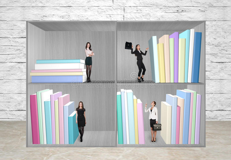 Miniatures of business people royalty free stock images