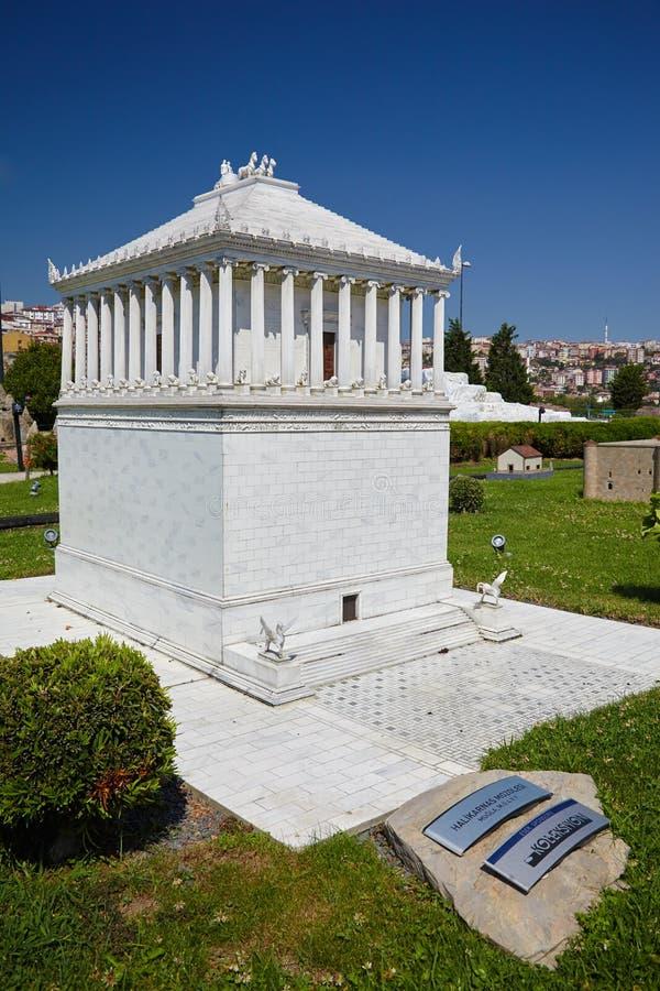 Miniaturk, Istambul Um modelo à escala de uma reconstrução do miliampère fotos de stock royalty free