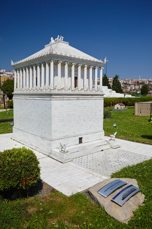 Miniaturk Istanbul En skalamodell av en rekonstruktion av modern royaltyfria foton