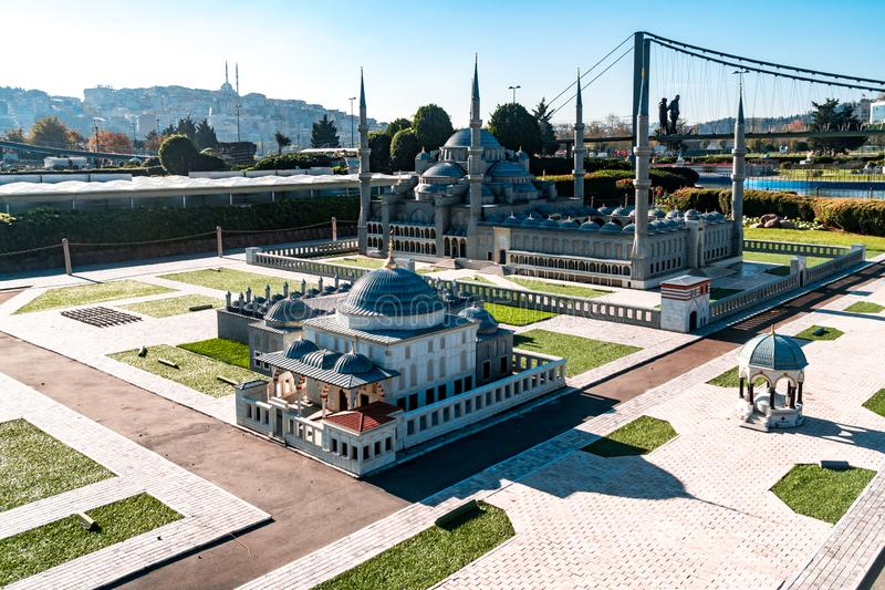Miniaturk in Istanbul stock photography
