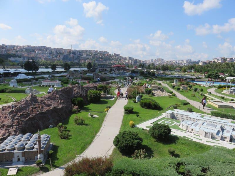 Miniaturk, miniature park in Istanbul. Turkey royalty free stock photo