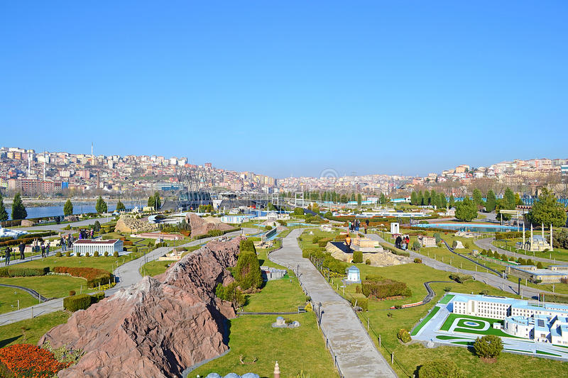 Miniaturk Park. Is Turkey In Miniature. It Is Located In Istanbul, Turkey royalty free stock images