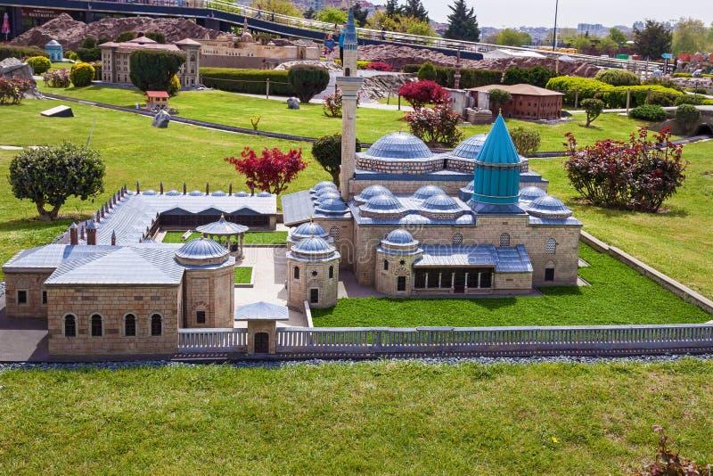 Miniaturk park in istanbul. Turkey Istanbul April 18, 2018: Miniaturk park in istanbul, the largest miniature park in the world. Representative models of Rock stock image