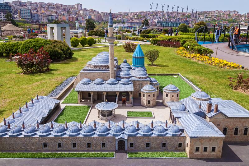 Miniaturk park in istanbul. Turkey Istanbul April 18, 2018: Miniaturk park in istanbul, the largest miniature park in the world. Representative models of Rock royalty free stock photo