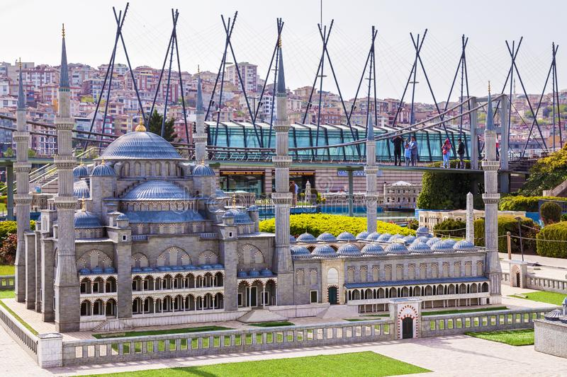 Miniaturk park in istanbul. Turkey Istanbul April 18, 2018: Miniaturk park in istanbul, the largest miniature park in the world. Representative models of scale stock photos