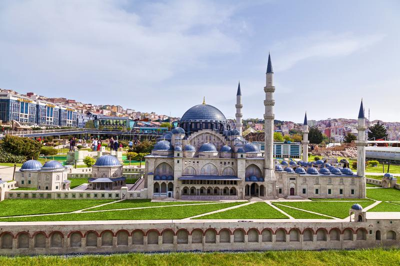 Miniaturk park in istanbul. Turkey Istanbul April 18, 2018: Miniaturk park in istanbul, the largest miniature park in the world. Representative models of scale stock photo