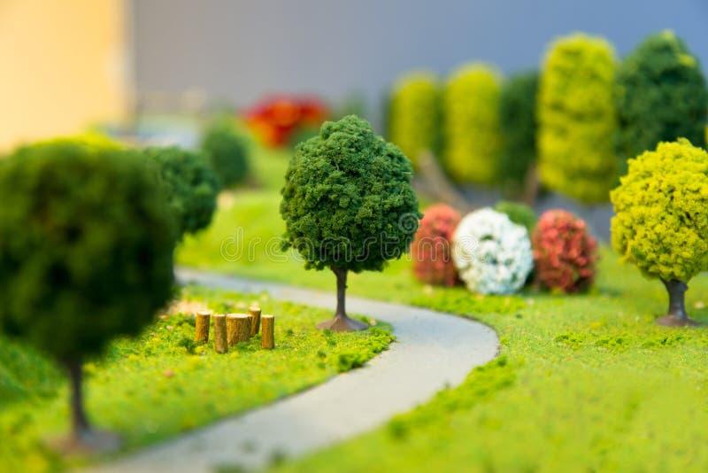 Miniaturlandschaft eines Parks lizenzfreies stockfoto
