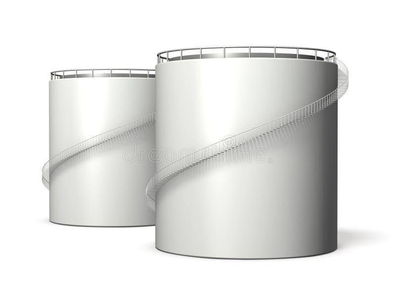 Miniaturmodell des Öltanks vektor abbildung