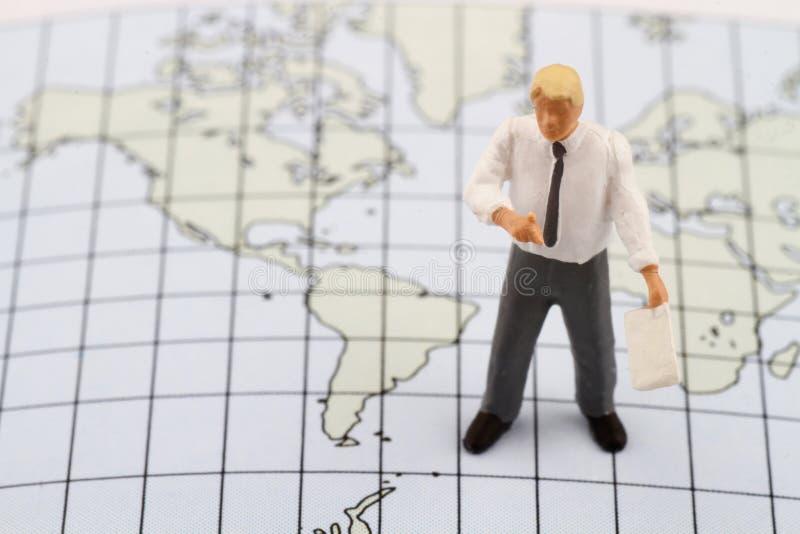 Miniaturowa figurka geografia nauczyciel obrazy stock