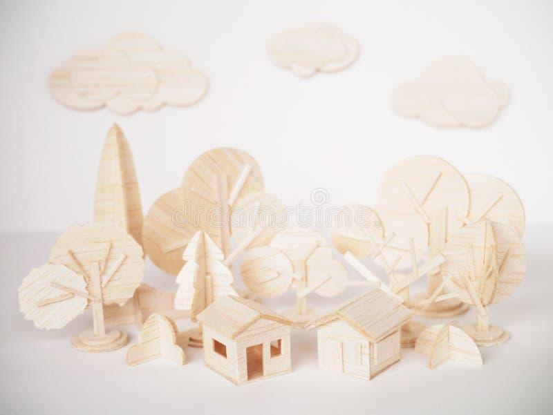 Miniaturowego drewnianego wzorcowego tnącego grafiki rzemiosła handmade minimalny zdjęcie royalty free