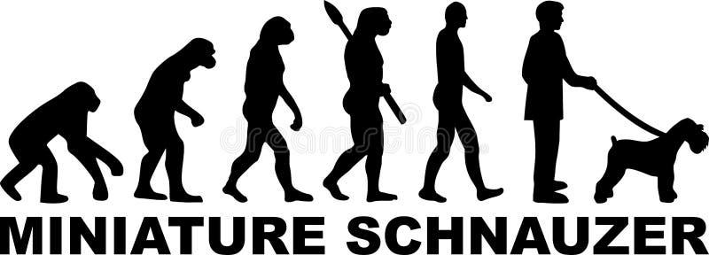 Miniaturowego Schnauzer ewoluci słowo royalty ilustracja