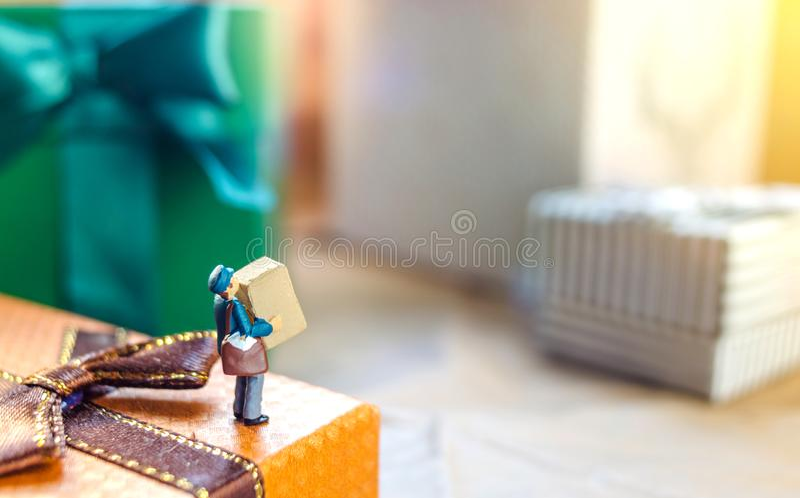 Miniaturowy mailman fotografia stock