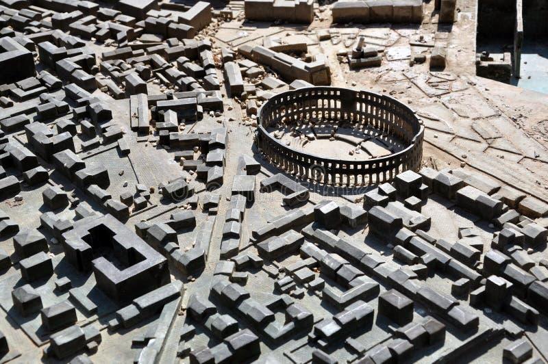 Miniaturowy miasto model Pula, Chorwacja fotografia stock