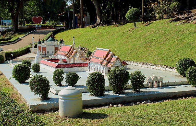 Miniaturowy park reprodukuje w Pattaya zdjęcie stock