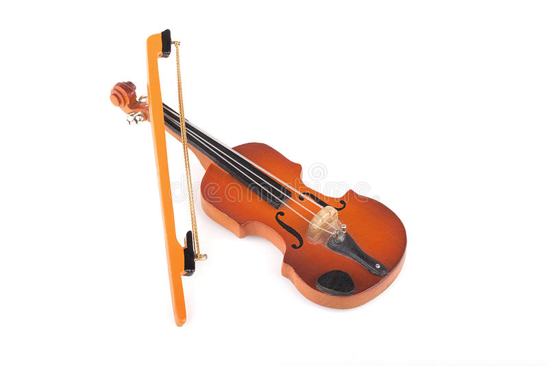 Miniaturowy skrzypce obraz royalty free