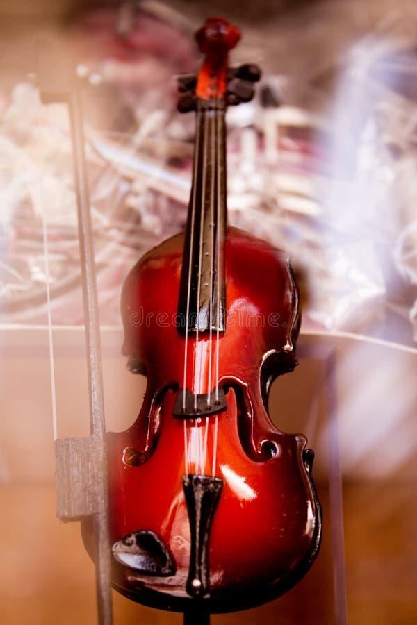 Miniaturowy skrzypce obrazy royalty free