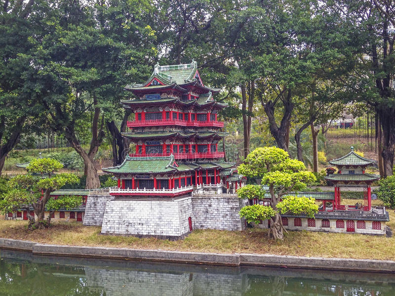 Miniaturpark in China stockfoto