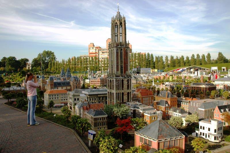 Miniaturstadt Madurodam, Den Haag, die Niederlande lizenzfreie stockbilder