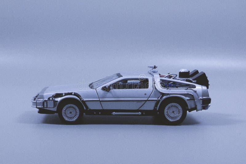 Miniatuur Grey Car Die-cast stock fotografie