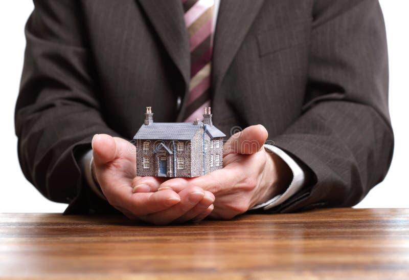 Miniatuur modelhuis - onroerende goederenconcept royalty-vrije stock afbeelding