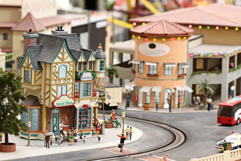 Miniatuur stad stock foto