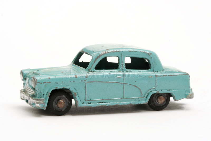 Miniatuur stuk speelgoed auto royalty-vrije stock foto's