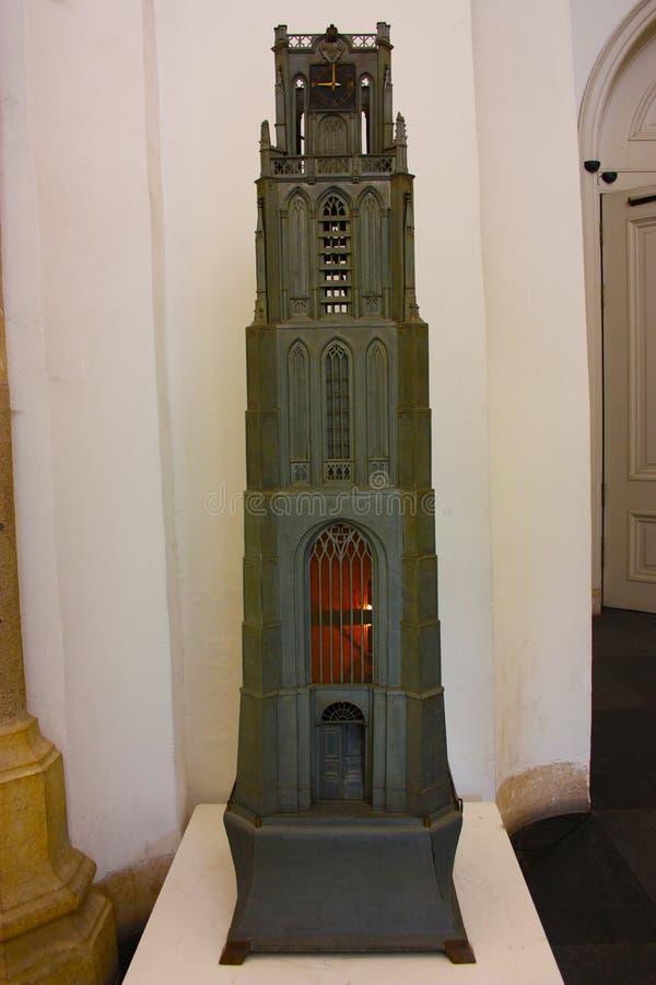 Miniatuurbinnenland van de toren van de kerk van Erasmus van Rotterdam royalty-vrije stock fotografie