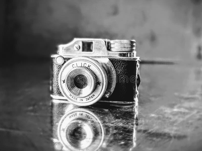 Miniatuurfilm klik op Camera royalty-vrije stock fotografie