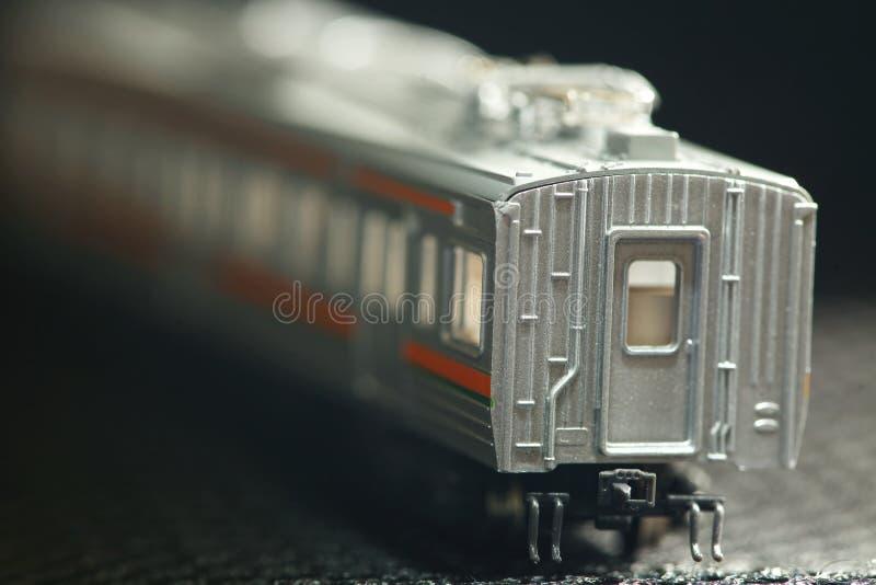 Miniatuurspoorweg modelscène royalty-vrije stock foto