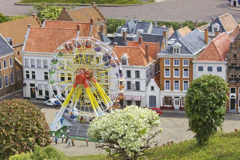 Miniatuurstadsscène, Nederland royalty-vrije stock afbeeldingen