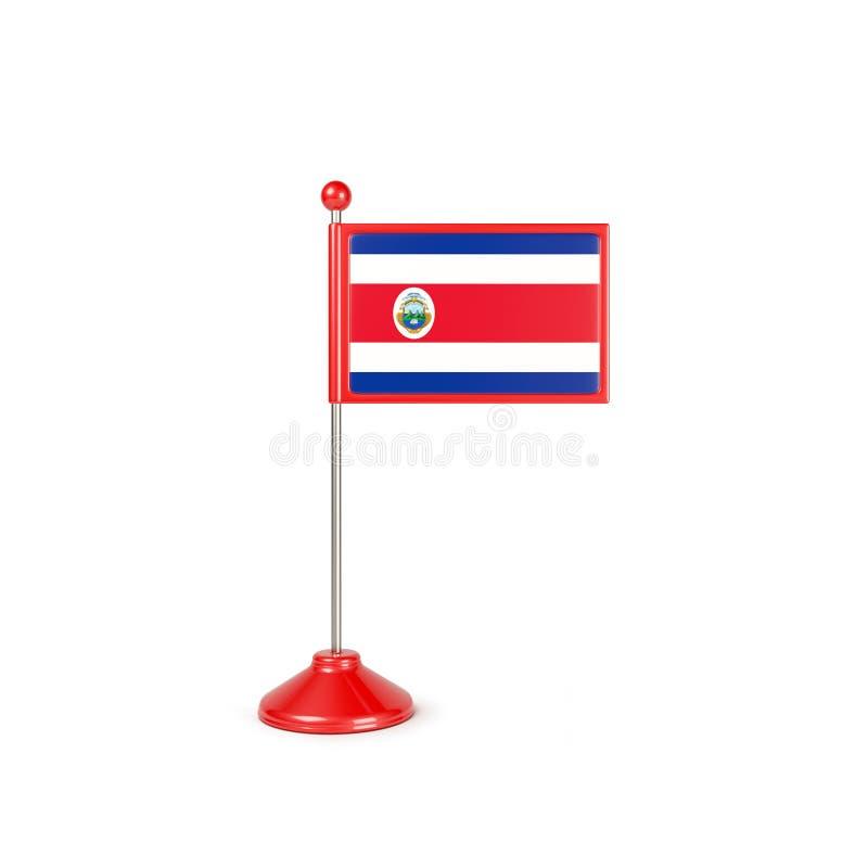 MiniatyrCosta Rica Flag Concept On White med den snabba banan royaltyfri illustrationer