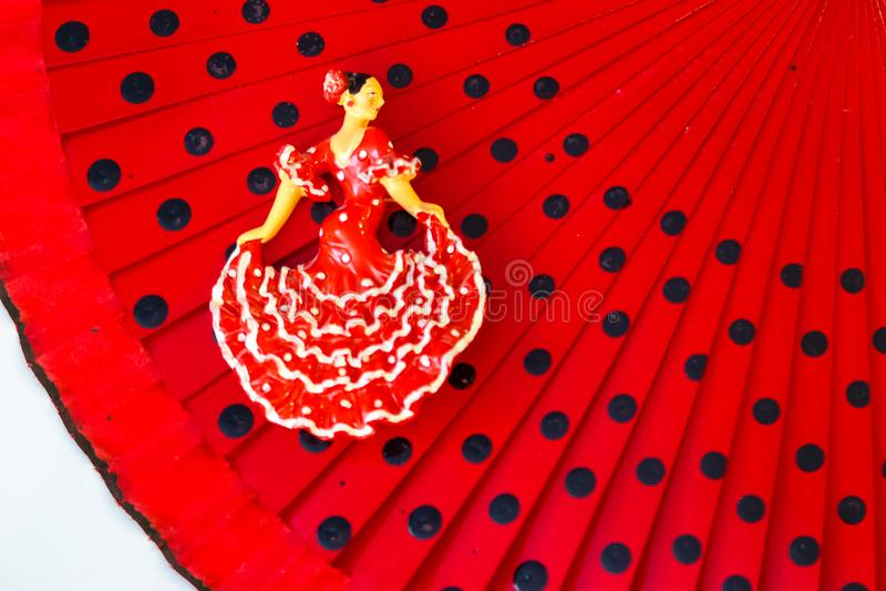 Miniatyrdiagram av en dansare i kombination med kvinnors saker arkivbilder