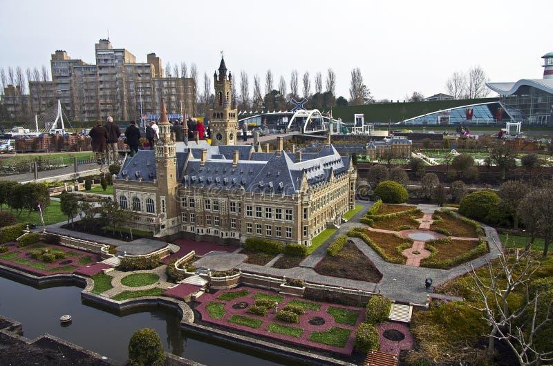 Miniatyrstad Madurodam. Haag Nederländerna. arkivbilder