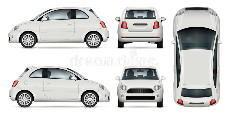 Miniauto vectorillustratie royalty-vrije illustratie