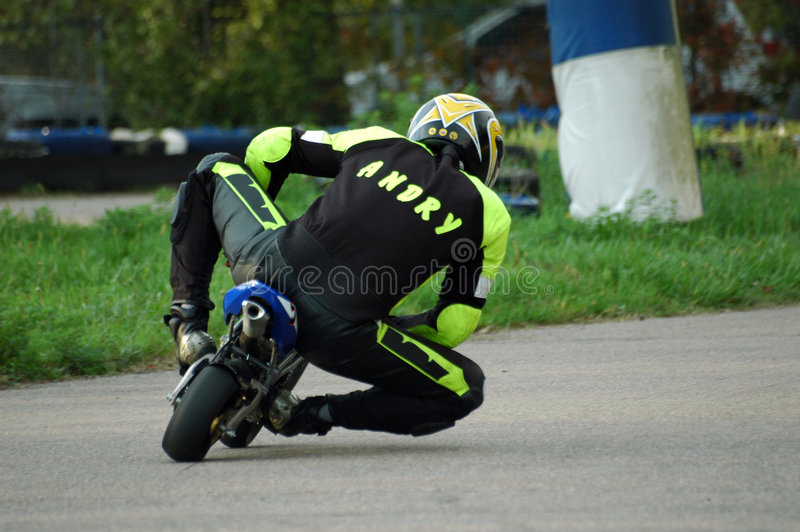 Minibike racing I stock images