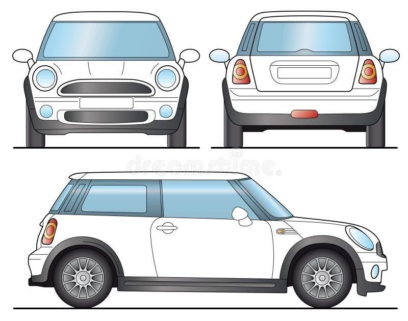 minibil vektor illustrationer