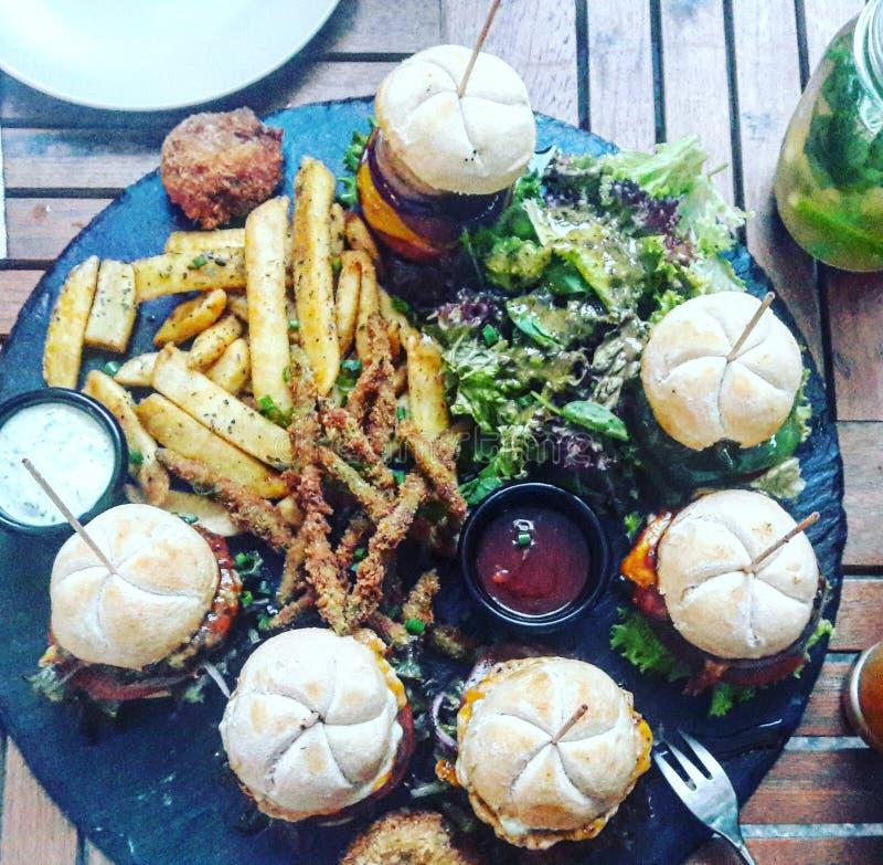 Miniburgers στοκ φωτογραφίες με δικαίωμα ελεύθερης χρήσης