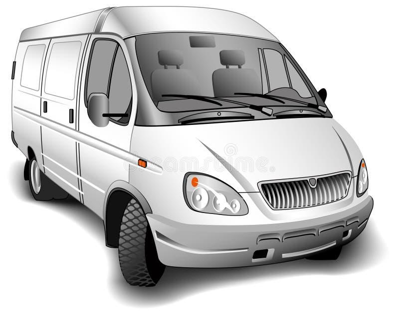 Minibus stock illustratie