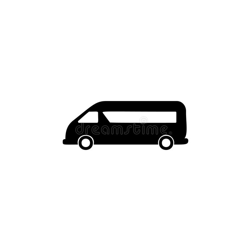 minibus icon. Element of car type icon. Premium quality graphic design icon. Signs and symbols collection icon for websites, web d vector illustration