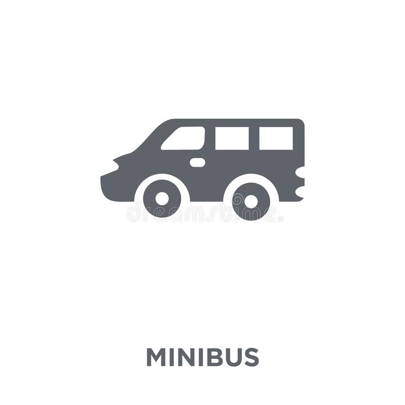 Minibus icon from Transportation collection. stock illustration