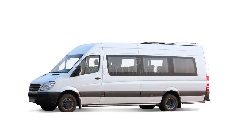 Minibus sur le blanc images libres de droits