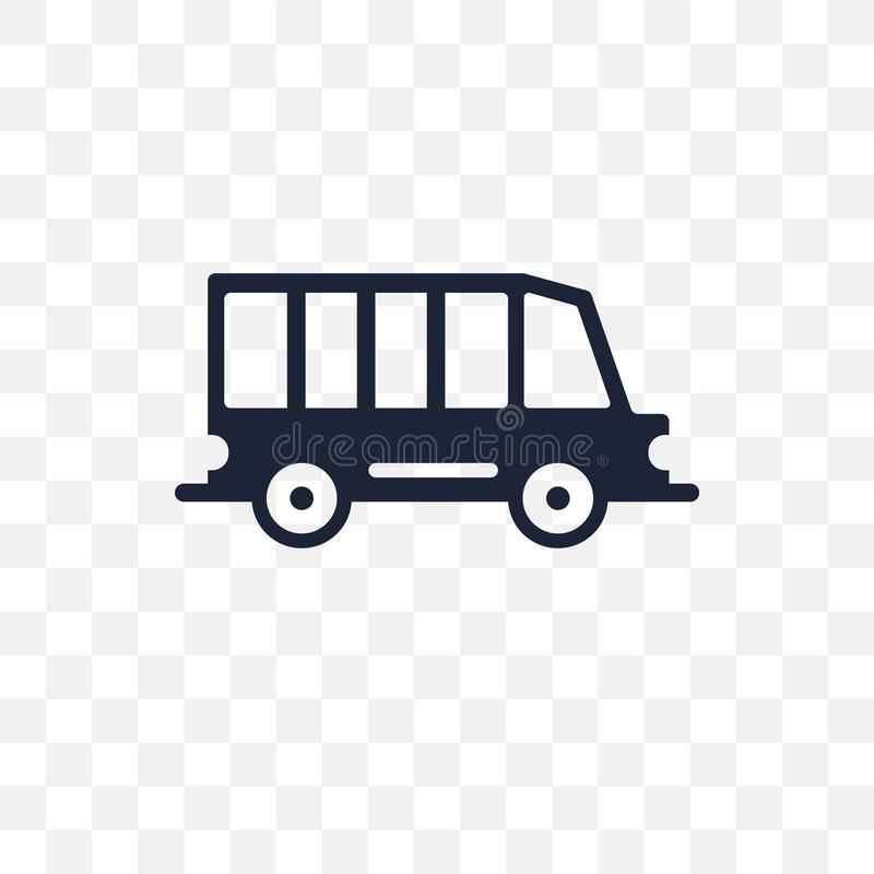 Minibus transparent icon. Minibus symbol design from Transportation collection. Simple element vector illustration. Can be used i stock illustration