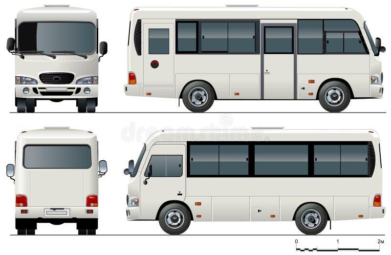 Minibus urbano do vetor ilustração stock