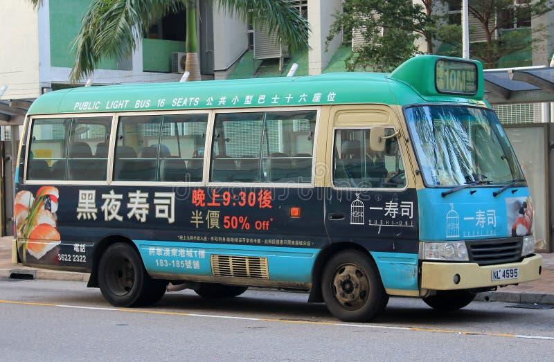 Minibus vert à Hong Kong images libres de droits
