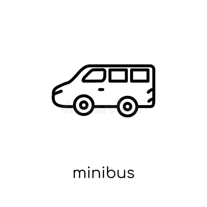 Minibuspictogram van Vervoersinzameling royalty-vrije illustratie
