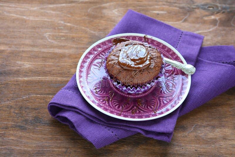 minichocoladecake, voedsel royalty-vrije stock fotografie