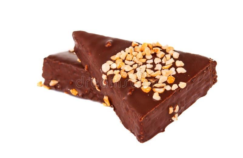 Minichokladcakestång arkivfoto