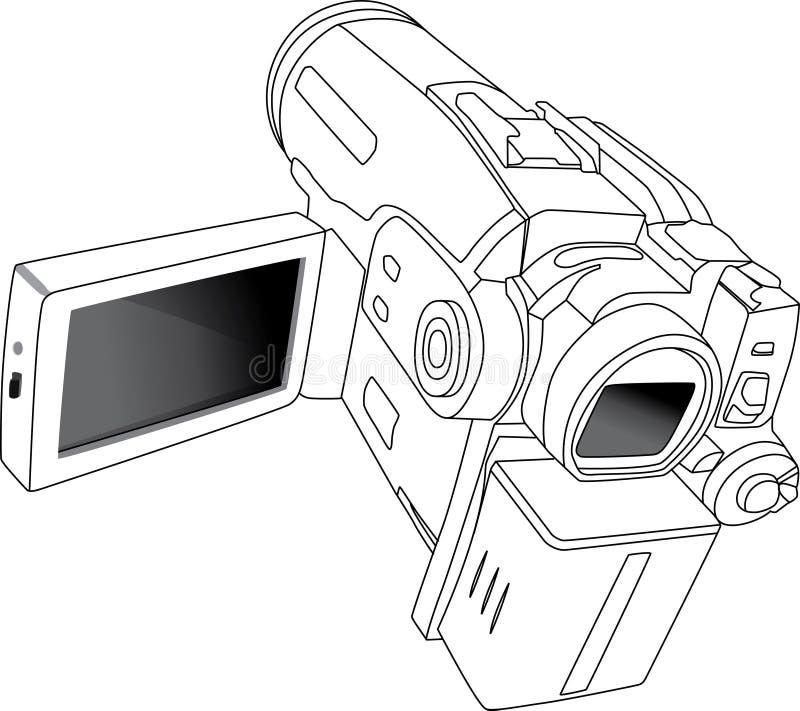 minidv камеры иллюстрация вектора